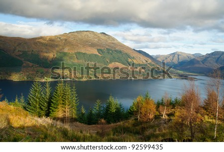 Landscape of Scotland - stock photo