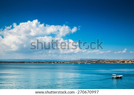 landscape of Siracusa village, sicily. Italy. - stock photo