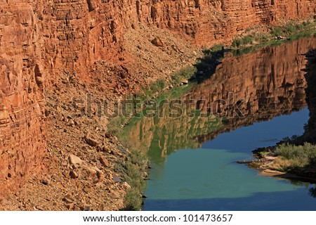Landscape of the Colorado River near Lees Ferry, Glen Canyon National Recreation Area, Arizona, USA - stock photo
