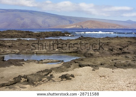 Landscape of the Galapagos Islands - stock photo