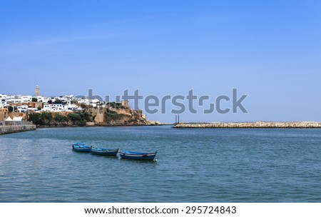 landscape of the Oudayas in Rabat and Bouregreg River, Morocco, Africa - stock photo