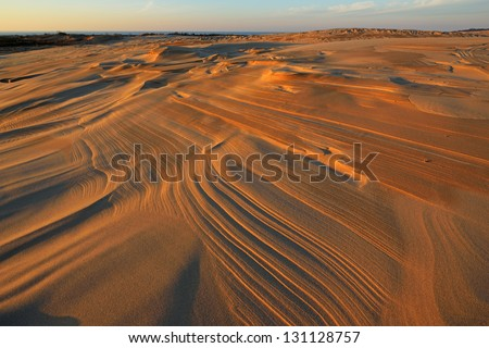 Landscape of the Silver Lake Sand Dunes, Silver Lake State Park, Michigan, USA - stock photo