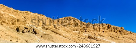 Landscape of the Valley of the Kings - Egypt - stock photo
