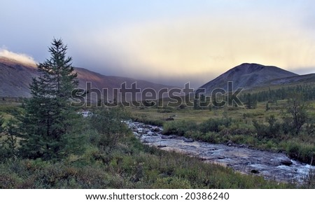 landscape of ural - stock photo