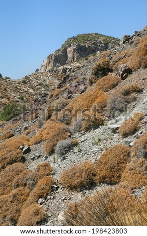 landscape on the island of Kos, Greece - stock photo