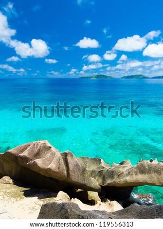 Landscape Panorama Bay - stock photo