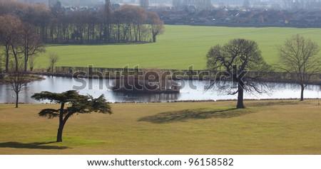 Landscape Pond View - stock photo