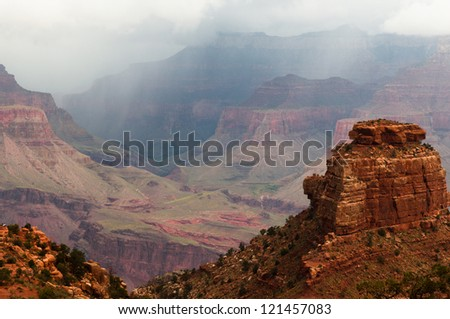 Landscape scene of Grand Canyon National Park. - stock photo