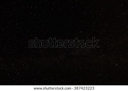 landscape starry night sky, the mountain Chater-Tau Tatarstan Russia - stock photo