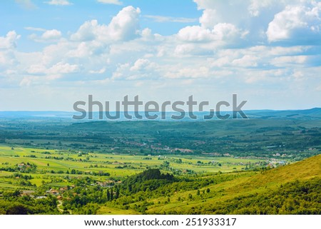 Landscape Under The Cloudy Sky - stock photo