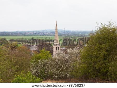 Landscape view of Gainsborough - stock photo