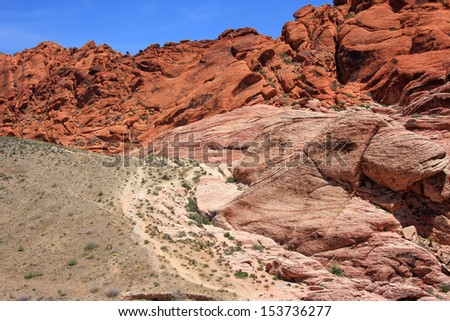 Landscape Views in Red Rock Canyon, Las Vegas Nevada - stock photo