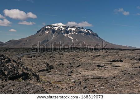 landscape with Mount Her�°ubrei�° - Iceland - stock photo