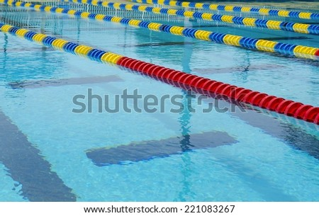 Lanes of a competition swimming pool - stock photo