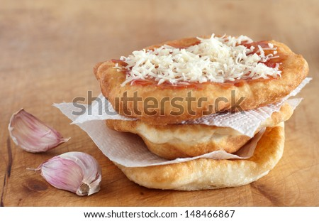 langos bread - stock photo