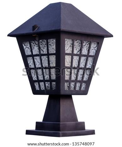 lantern Isolated on white - stock photo