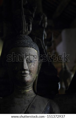 Laos Heritage state at Wat Xieng Thong luang prabang Laos  - stock photo
