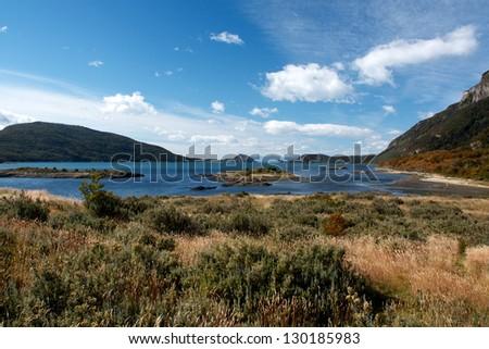 Lapataia Bay, Argentina - stock photo