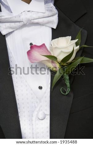 lapel flower - stock photo