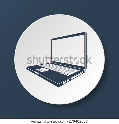 Laptop Icon illustration. Flat  - stock photo