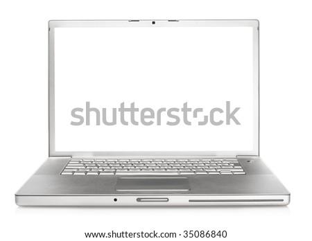 laptop isolated - stock photo