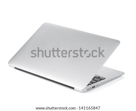 Laptop. Isolated on white background - stock photo
