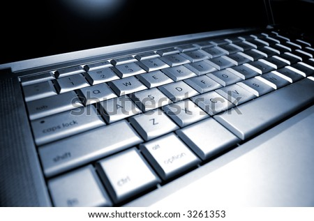 Laptop Keyboard Very Shallow depth of field - stock photo