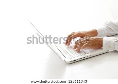 Laptop, work, keyboard - stock photo