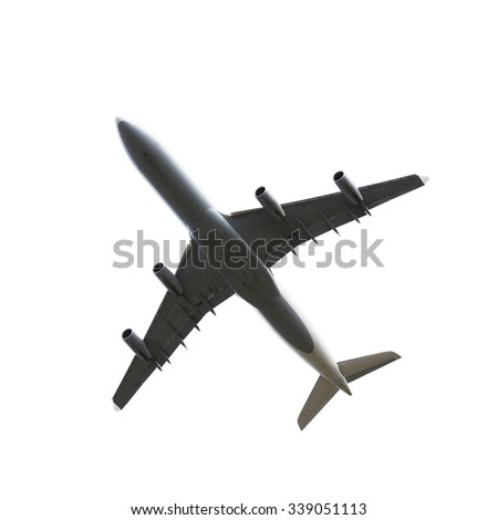 Large Airliner isolated on white - stock photo