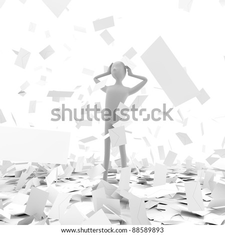 Large amount of junk mail - stock photo