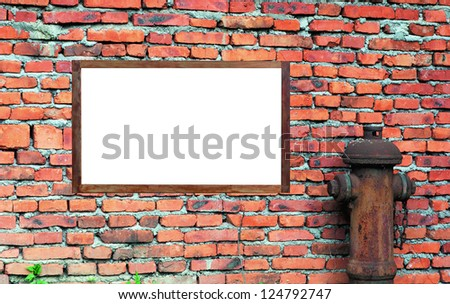 Large billboard with blank white paper ready for text. - stock photo