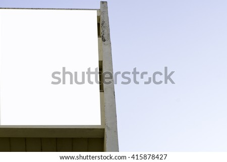 Large blank billboard on old building  - stock photo
