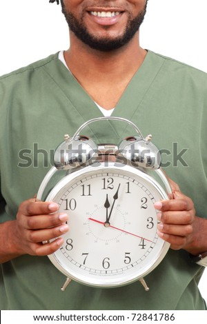 Large clock - stock photo