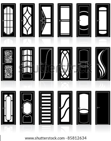 Stock images similar to id 136495475 window silhouette for Window design vector