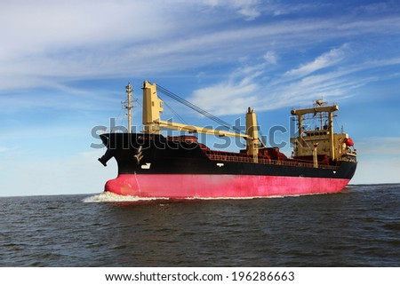 Large container ship - stock photo