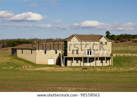 Large country home - stock photo