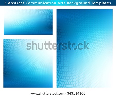 Large Creative Abstract .jpg blue wave with dots overlay background. Plenty of copy space. - stock photo