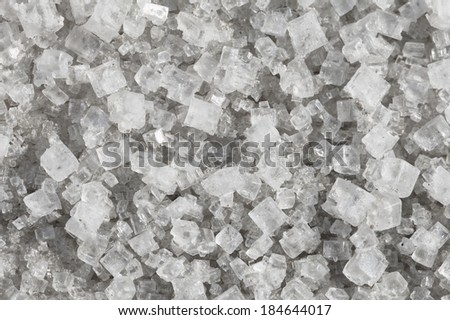 Large crystals of sodium chloride - macro - stock photo