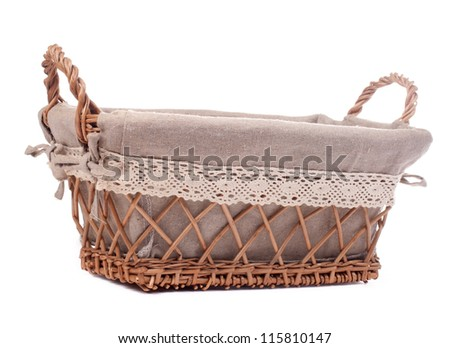Large empty wicker basket - stock photo