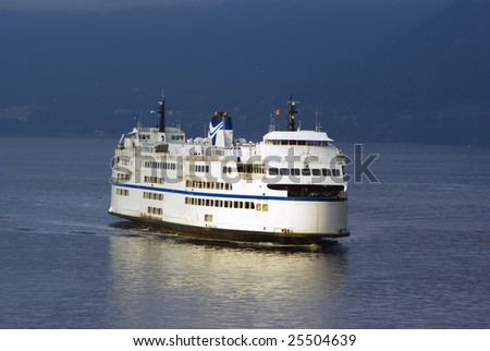 Large Ferry in the Pacific Northwest Horseshoe Bay Vancouver British Columbia - stock photo