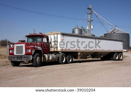 Large grain truck (no markings) - stock photo