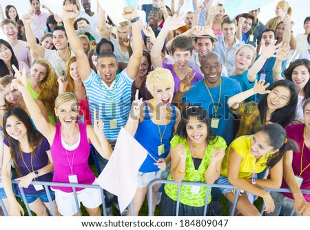 Large Group Celebration - stock photo