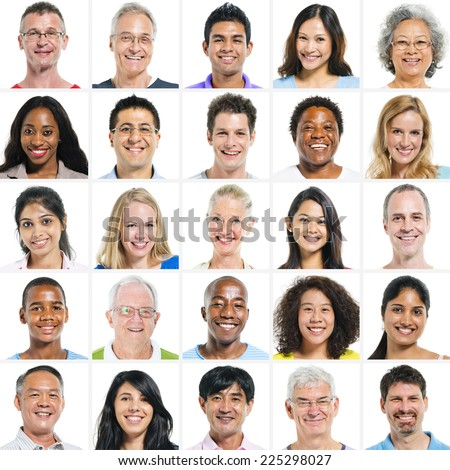 Large group of Multi Ethnic Group - stock photo