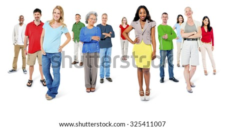 Large Group of People Community Social Gathering Concept - stock photo
