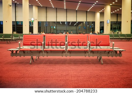 large hall for the airport waiting - stock photo