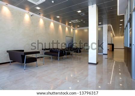 large hallway - stock photo