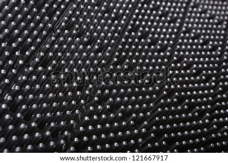 Large heat-sink surface texture - stock photo