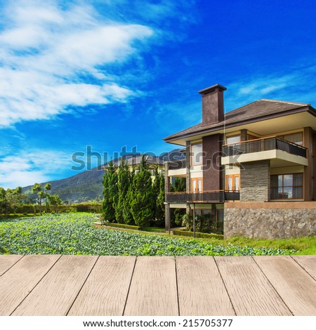 Large  home in a rural area - stock photo