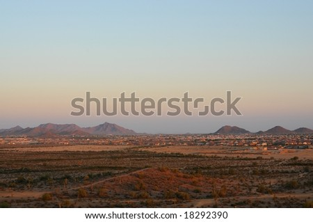 Large housing development  in arizona mountains - stock photo