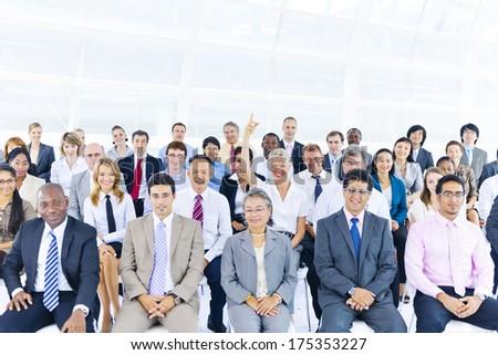 Large International Business Seminar - stock photo